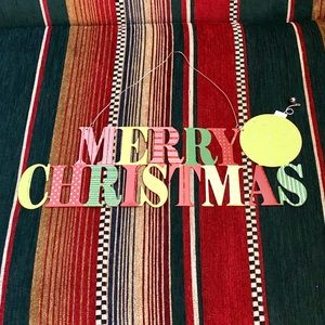 Other - MERRY CHRISTMAS METAL BLING HANGING SIGN
